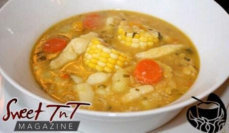 Corn soup Cuisine in ah Pot