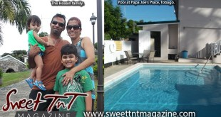 Hosein family take relaxing vibe at pool at Papa Joe's Place, Tobago, Sweet T&T, Sweet TnT, Trinidad and Tobago, Trini, vacation, travel