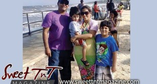 Nerissa Hosein and family on a trip to Manzanilla Beach, Sweet T&T, Sweet TnT, Trinidad and Tobago, Trini, vacation, travel