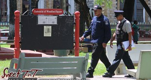 Police in Woodford Square, sign, 1917, 100 years in 2017, University of Woodford Square, Sweet T&T, Sweet TnT, Trinidad and Tobago, Trini, Travel, Vacation, Tourist,