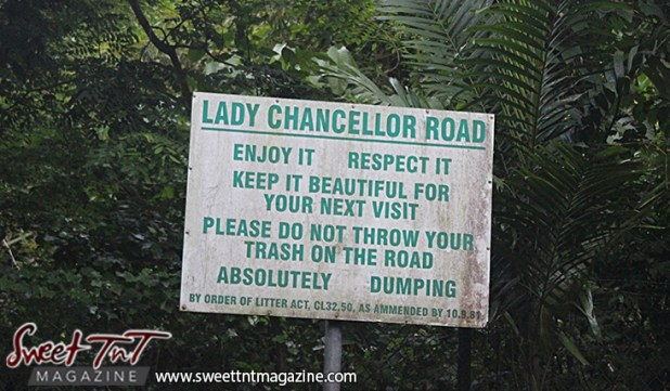 Sign on Lady Chancellor Hil Port of Spain for story original outdoor gym in Sweet T&T, Sweet TnT, Trinidad and Tobago, Trini, vacation, travel