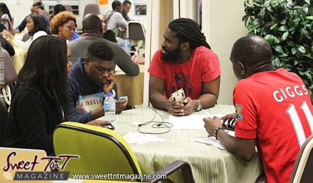 Group of 3 guys and girl on day 1 at Launch Rockit in sweet t&t for Sweet TnT Magazine in Trinidad and Tobago