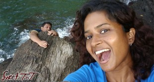 Candida Khan and Avenall Bharath having fun at Fort Abercromby in sweet T&T for Sweet TnT Magazine, Culturama Publishing Company, for news in Trinidad, in Port of Spain, Trinidad and Tobago, with positive how to photography.