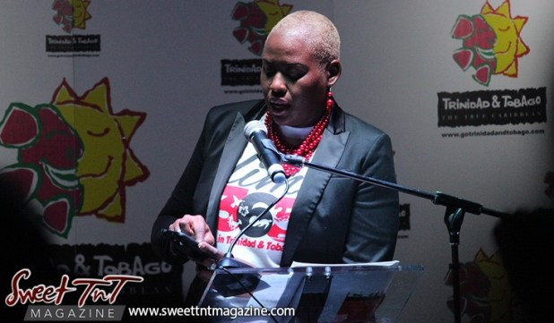 Carla Cupid, TDC Marketing Specialist at the launch of the Go Trinbago App at National Academy for the Performing Arts in sweet T&T for Sweet TnT Magazine, Culturama Publishing Company, for news in Trinidad, in Port of Spain, Trinidad and Tobago, with positive how to photography.