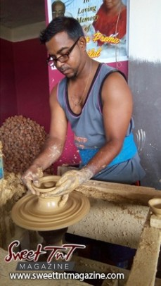 Pottery in sweet T&T for Sweet TnT Magazine, Culturama Publishing Company, for news in Trinidad, in Port of Spain, Trinidad and Tobago, with positive how to photography.
