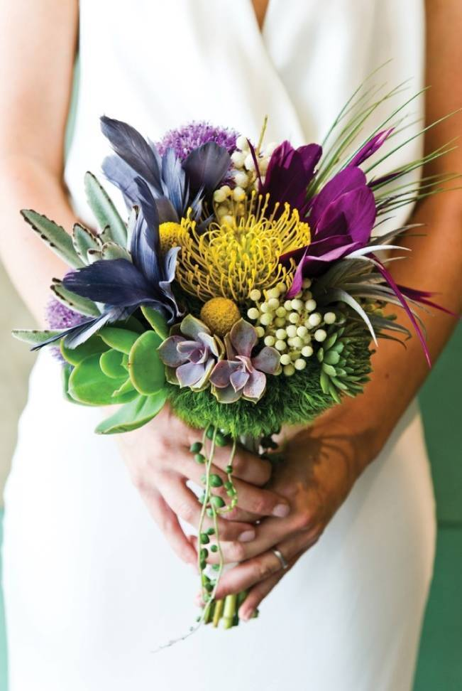 colorful feather bouquet