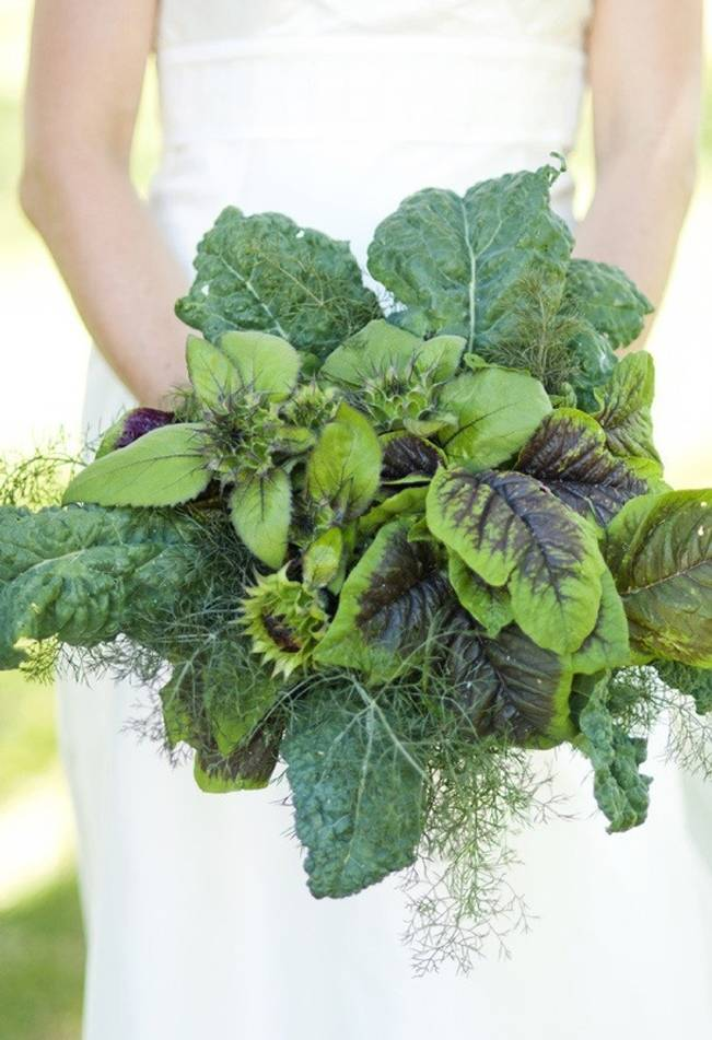 kale green bouquet