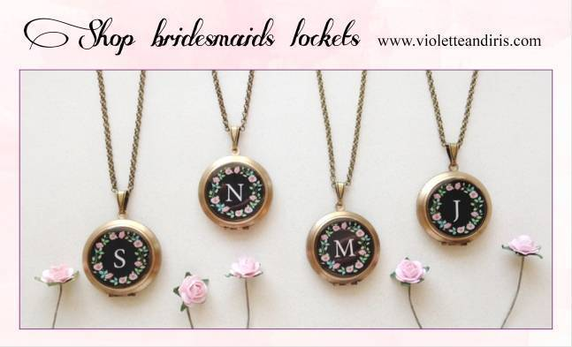 shop bridesmaids lockets - violette and iris