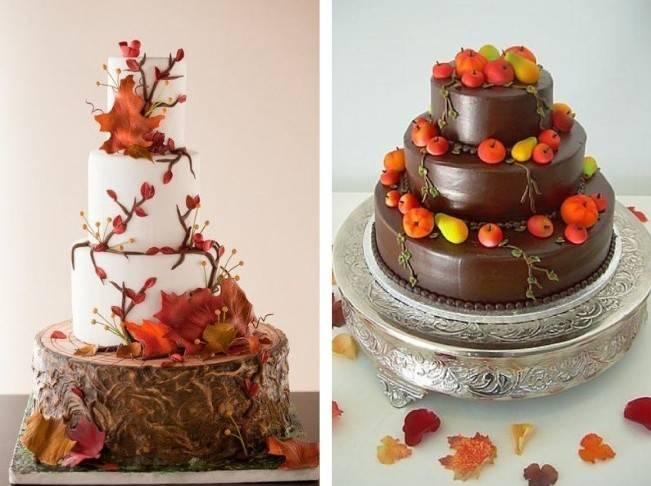 autumn fruit wedding cake