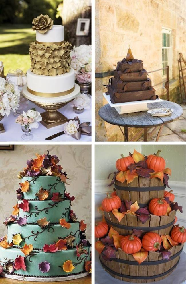 whimsical fall wedding cakes