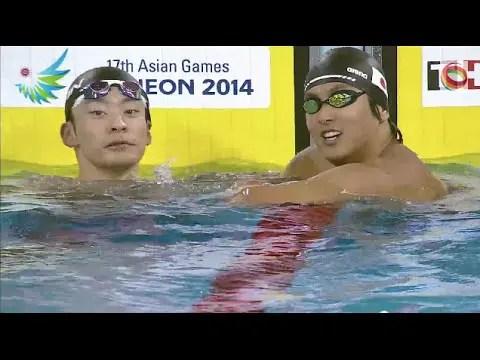 2014アジア大会男子50m背泳ぎ