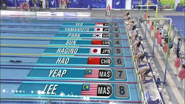 2014アジア大会男子400m自由形