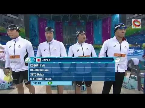 2014アジア大会男子800mフリーリレー