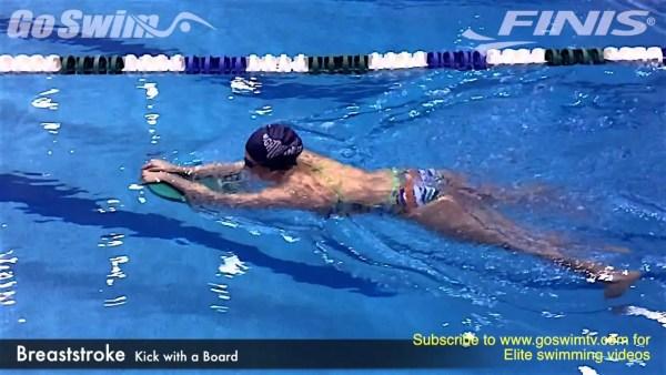 差をつける為の平泳ぎの板キック練習