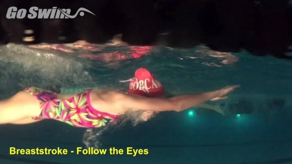 平泳ぎを上手くする為には目線が重要だった