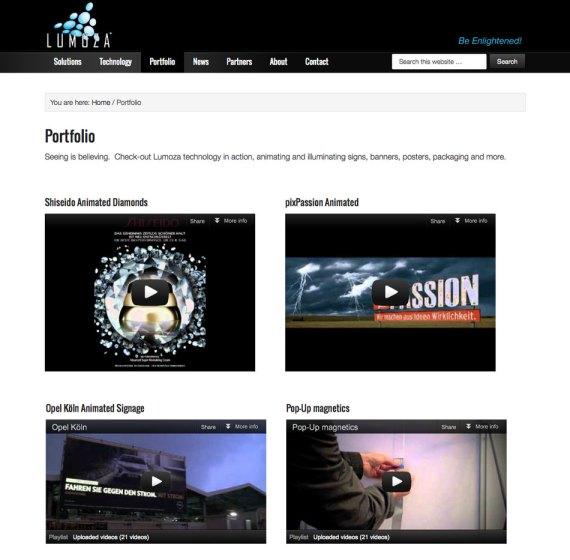Lumoza video gallery
