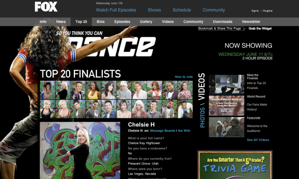 Top 20 Finalists Profile Pages