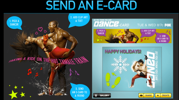 So You Think You Can Dance E-Cards