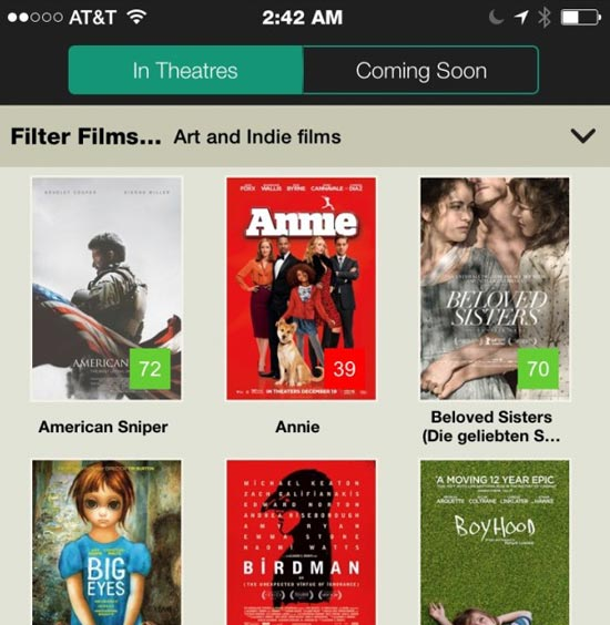 Cinelife Movie iPhone App