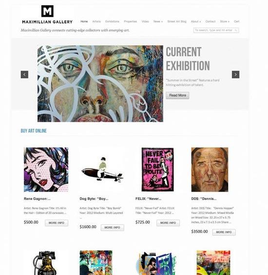 Maximillian Gallery – Web