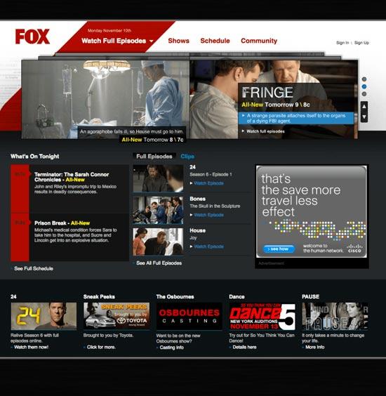 Fox.com Redesign 2