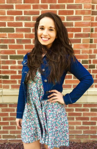 Junior Adela Antal combines her sundress with a jean jacket.