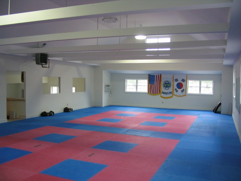 The main dojang, where classes and testing are held.