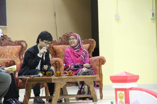 Perhaps one of my first time being a part of a panel (this was for a forum in MRSM Tun Ghafar Baba, 2013)