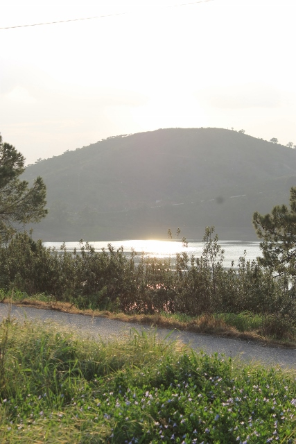 A sun sparkle on the water at Barragem de Arade, Portugal
