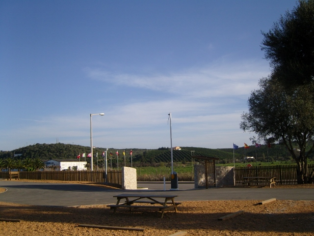 View from our van. At Silves, Portugal