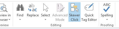 Skewer Click in SharePoint Designer 2013