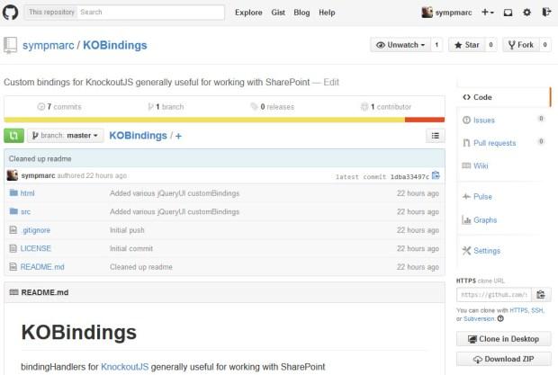 sympmarc/KOBindings on GitHub