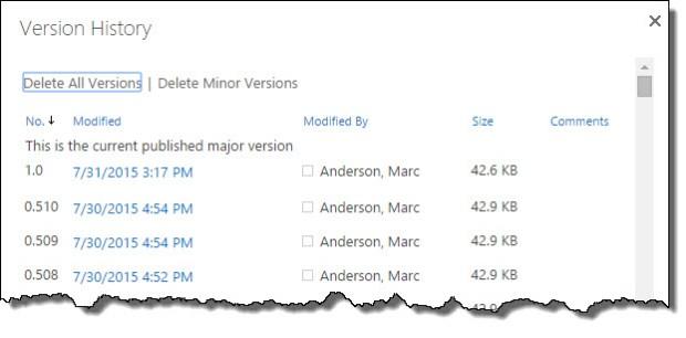 Too many minor versions