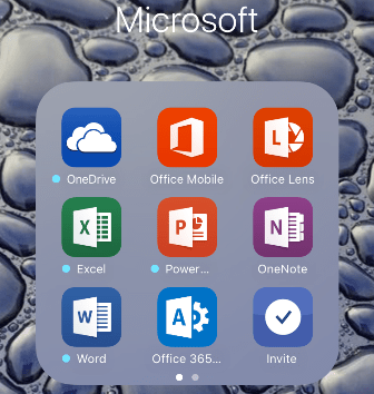 Microsoft Apps on iOS
