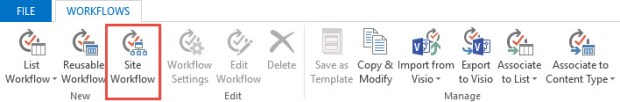 SharePoint 2013 Site Workflow
