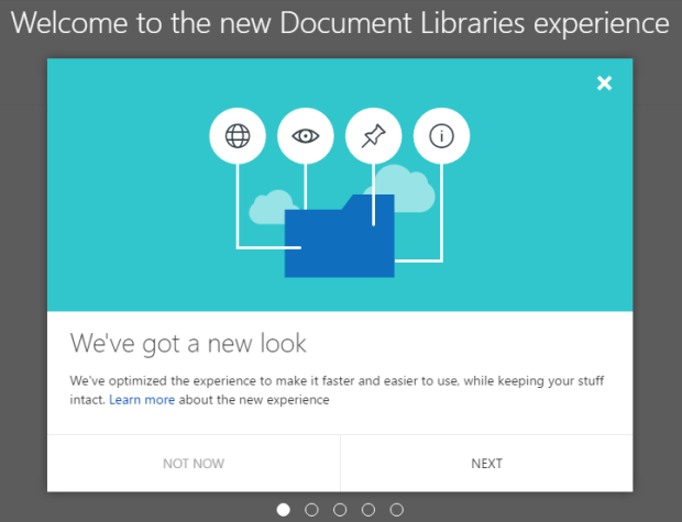"New Document Library ""Experience"" Prompt"