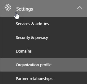 Settings / Organization Profile
