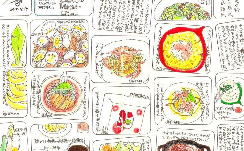 (モレスキン作品)渋谷の思い出をモレスキンにスケッチ