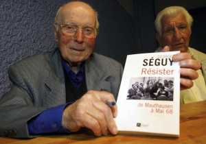 Georges Seguy, 81ans, ancien secretaire general de la CGT de 1967 a 1982, lors de la fete des 40 ans de lutte syndicale a Colomiers, pres de Toulouse sa ville natale. Colomiers , FRANCE-02/06/2008.