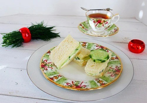 Cucumber Dill Tea Sandwich
