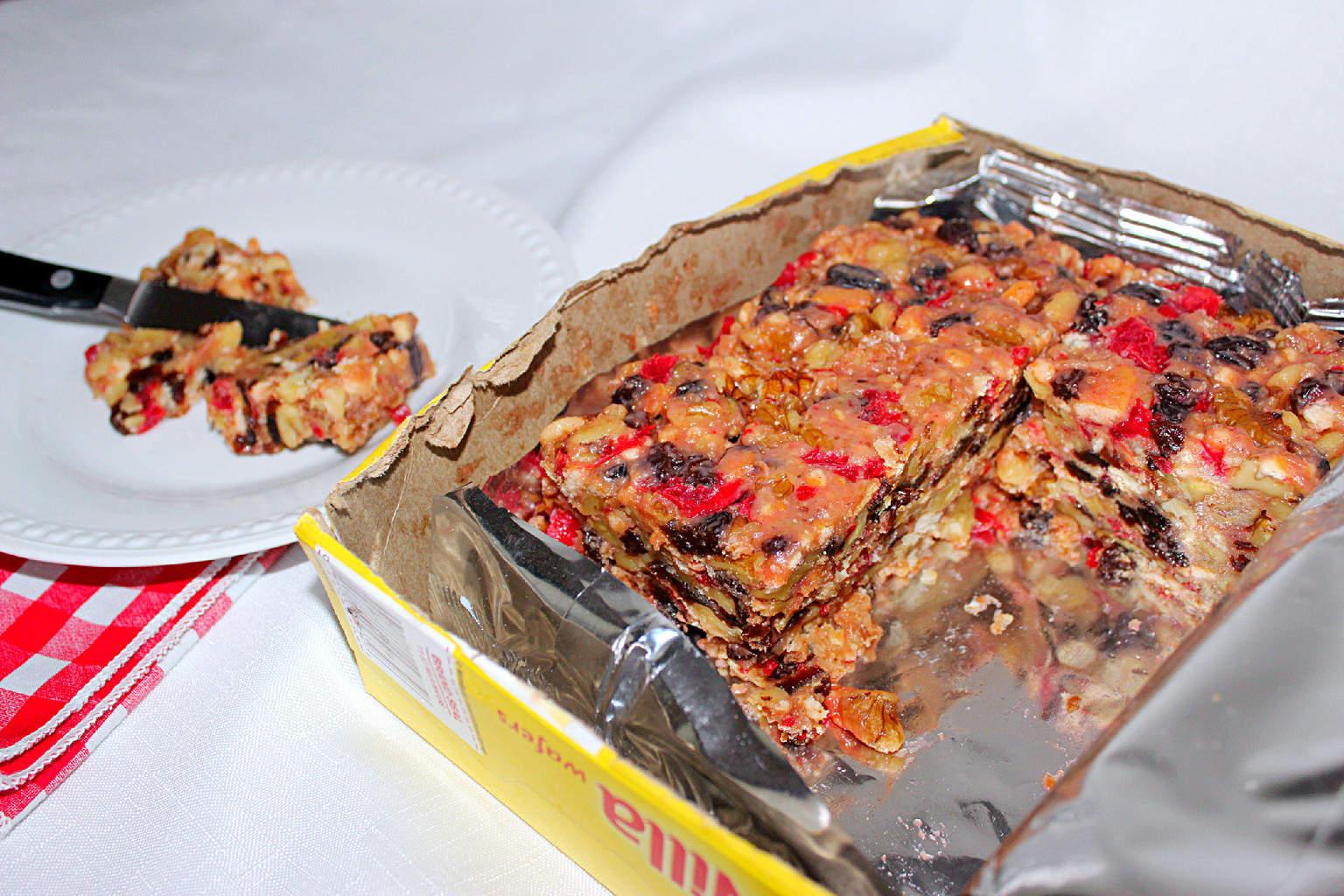 Ice Box Fruit Cake Graham Crackers