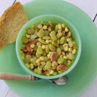 Succotash and Cornbread~ Syrup and Biscuits