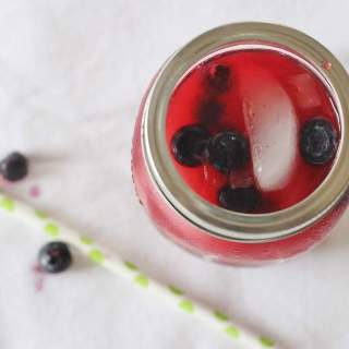 Blueberry Lemonade with fresh berries
