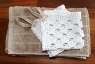 Klutene er ferdige - matcher perfekt gjestehåndklærne