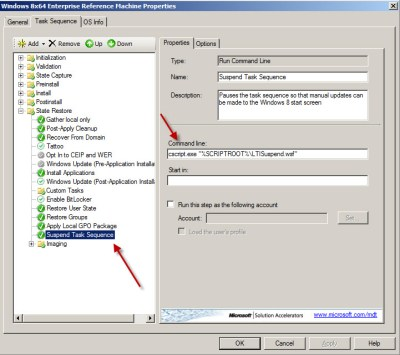 Pause MDT 2012 Update 1 Task Sequence for Image Creation of Windows 7 and Windows 8 | Desktop ...