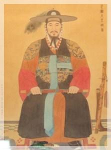 朝鮮王朝22代王・正祖の肖像画