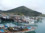 青山島の港にフェリーで到着