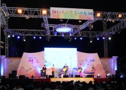 光州で開かれている「光州芸術祭」のステージ