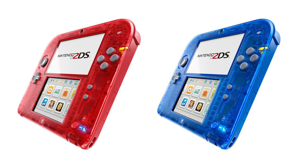 Nintendo 2DS Transparent Red/Blue