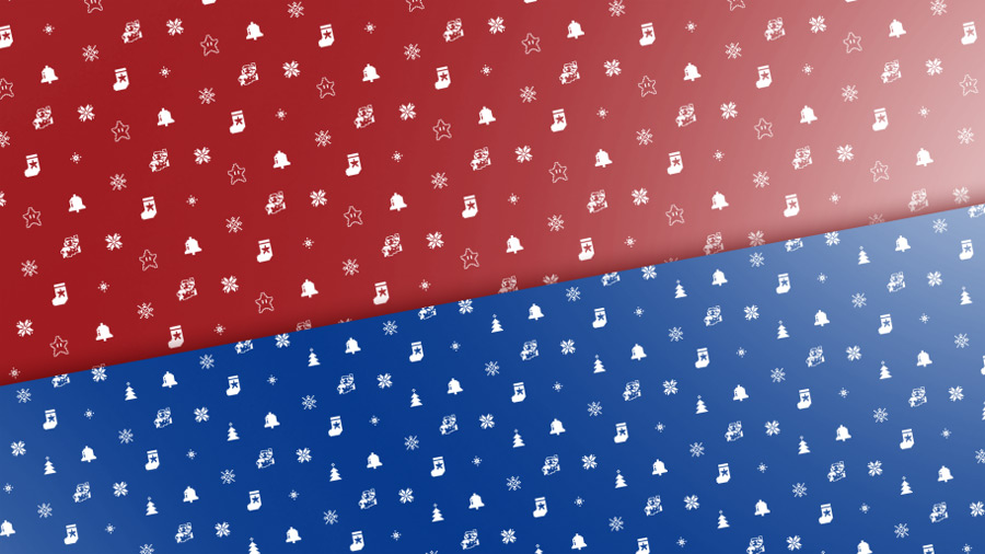 8-Bit Mario Festive Gift Wrapping Paper